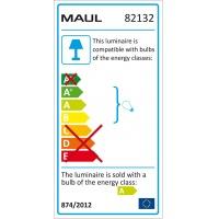 Lampka energooszczędna na biurko MAULeasy, 9W, srebrna, Lampki, Urządzenia i maszyny biurowe