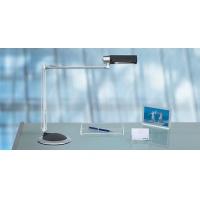 Lampka energooszczędna na biurko MAULoffice, 20W, mocowana zaciskiem, srebrno-czarna, Lampki, Urządzenia i maszyny biurowe