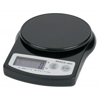 Waga elektroniczna MAUL MaulAlpha, 2kg, czarna, Wagi, Urządzenia i maszyny biurowe
