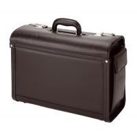 Teczka ALASSIO Genova, skóra ekologiczna, 455x340x200mm, czarna, Torby, teczki i plecaki, Akcesoria komputerowe