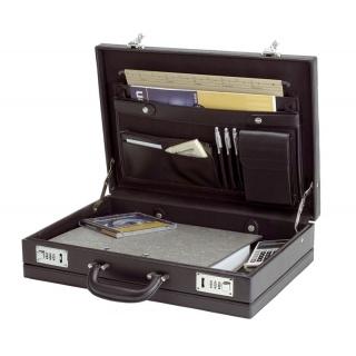 Teczka ALASSIO Karwowski, skóra ekologiczna, 445x320x105mm, czarna, Torby, teczki i plecaki, Akcesoria komputerowe