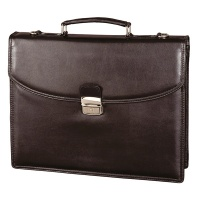 Briefcase ALASSIO Cantana, eco leather, 380x310x95mm, black