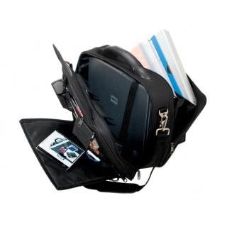 Teczka na laptopa ALASSIO Arco, poliester, 405x330x160mm, czarna, Torby, teczki i plecaki, Akcesoria komputerowe