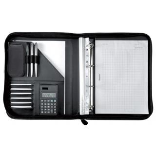 Teczka ALASSIO Riccione, skóra ekologiczna, 357x285x45mm, czarna, Torby, teczki i plecaki, Akcesoria komputerowe