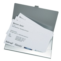 Business Card Album ALASSIO, aluminium, for 25 cards, silver
