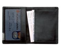 Wizytownik ALASSIO, skórzany, na 20 wizytówek, czarny, Wizytowniki, Drobne akcesoria biurowe