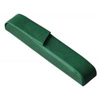 Etui na długopis ALASSIO Rivioli, skóropodobne, zielone, Długopisy, Artykuły do pisania i korygowania