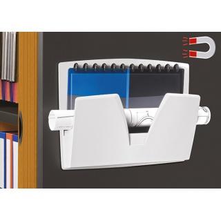 Półka naścienna CEP ReCaption, magnetyczna, 361x86x270mm, jasnoszara, Półki, Drobne akcesoria biurowe
