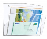 Wall Mounted Files CEP ReCaption, 3 pockets, clear