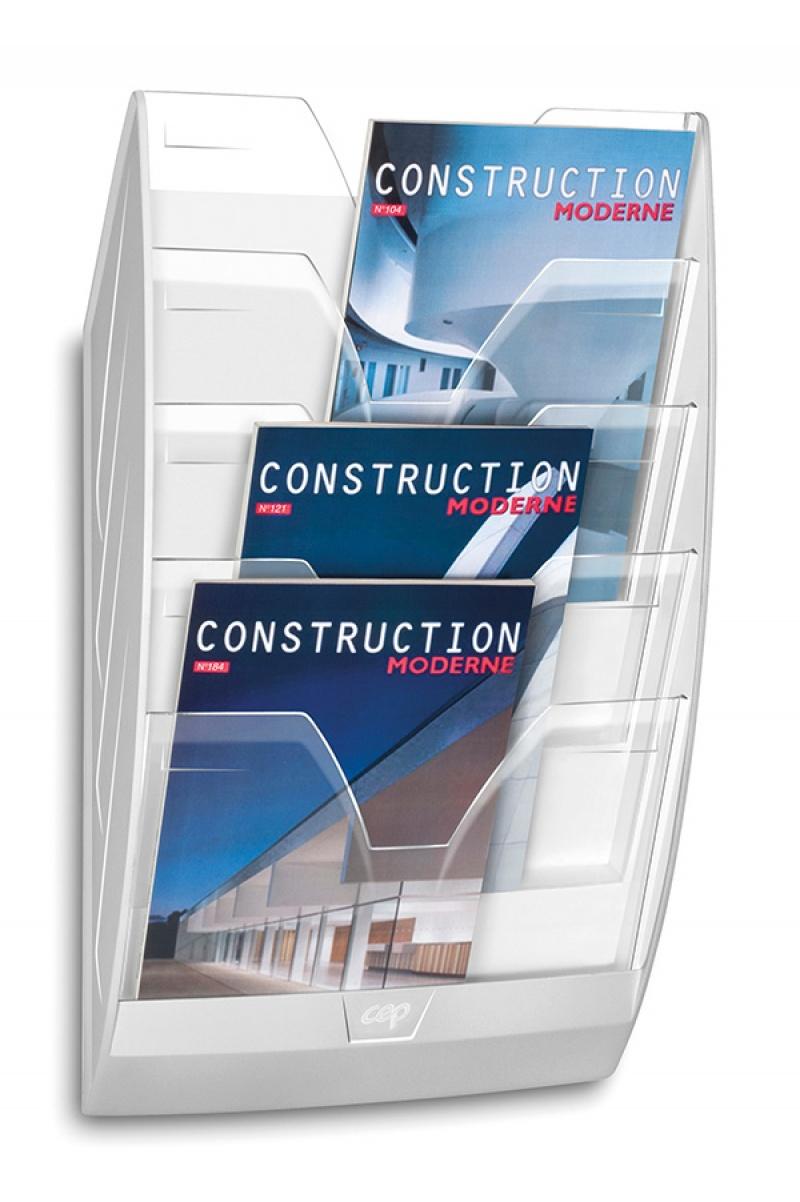 Zestaw naścienny CEP ReCaption, 5 półek, przeźroczysty, Półki, Drobne akcesoria biurowe