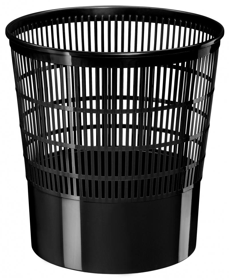 Kosz na śmieci CEP Ecoline, 16l, czarny, Kosze plastik, Wyposażenie biura