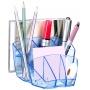 Przybornik na biurko CEP Ice, niebieski, Przyborniki na biurko, Drobne akcesoria biurowe