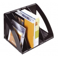 Magazine File Rack CEP Ice, A4, 6-module set, black
