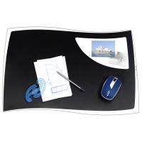 Podkładka na biurko CEP Isis, 63x42cm, czarna, Podkładki na biurko, Wyposażenie biura