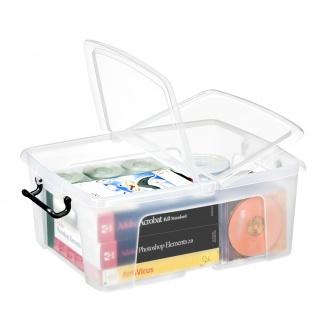 Pojemnik biurowy CEP Smartbox, 24l, transparentny, Pudła, Wyposażenie biura