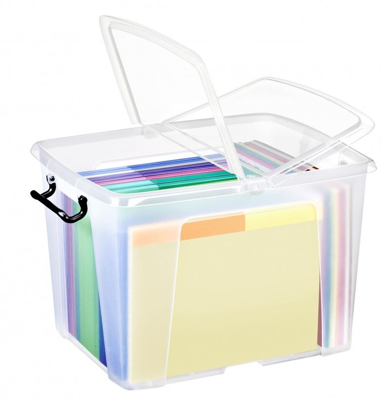 Pojemnik biurowy CEP Smartbox, 40l, transparentny, Pudła, Wyposażenie biura