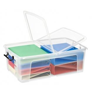 Pojemnik biurowy CEP Smartbox, 50l, transparentny, Pudła, Wyposażenie biura