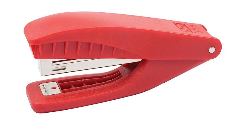 Zszywacz SAX349, zszywa do 25 kartek, zintegrowany rozszywacz, czerwony, Zszywacze, Drobne akcesoria biurowe