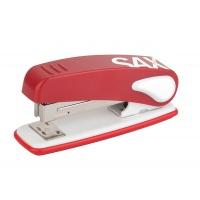Zszywacz SAX239 Design, zszywa do 25 kartek, czerwony, Zszywacze, Drobne akcesoria biurowe