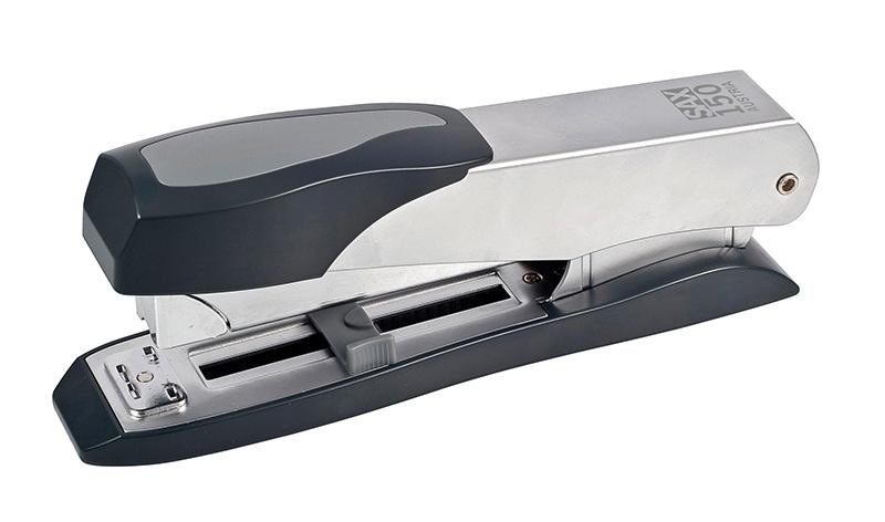 Zszywacz SAX150, zszywa do 45 kartek, front loader, regulowana głębokość, srebrny, Zszywacze, Drobne akcesoria biurowe