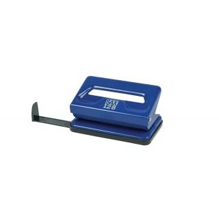 Dziurkacz SAX128S, dziurkuje do 12 kartek, niebieski, Dziurkacze, Drobne akcesoria biurowe