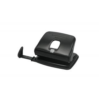 Dziurkacz SAX318, dziurkuje do 15 kartek, czarny, Dziurkacze, Drobne akcesoria biurowe