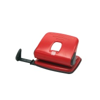 Hole Punch SAX 318, capacity up to 15 sheets, red