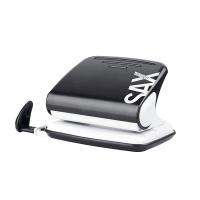 Dziurkacz SAXDesign 318, dziurkuje do 20 kartek, czarny, Dziurkacze, Drobne akcesoria biurowe