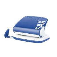 Dziurkacz SAXDesign 318, dziurkuje do 20 kartek, niebieski, Dziurkacze, Drobne akcesoria biurowe