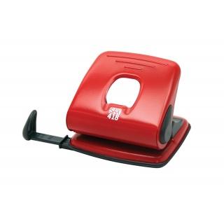 Dziurkacz SAX418, dziurkuje do 25 kartek, czerwony, Dziurkacze, Drobne akcesoria biurowe