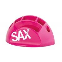 Przybornik na biurko SAX Design, z przegrodami, różowy, Przyborniki na biurko, Drobne akcesoria biurowe