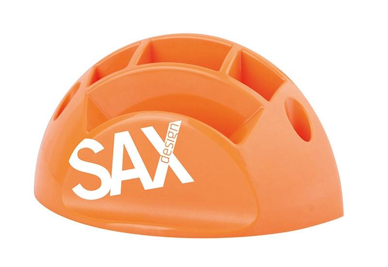 Przybornik na biurko SAX Design, z przegrodami, pomarańczowy, Przyborniki na biurko, Drobne akcesoria biurowe