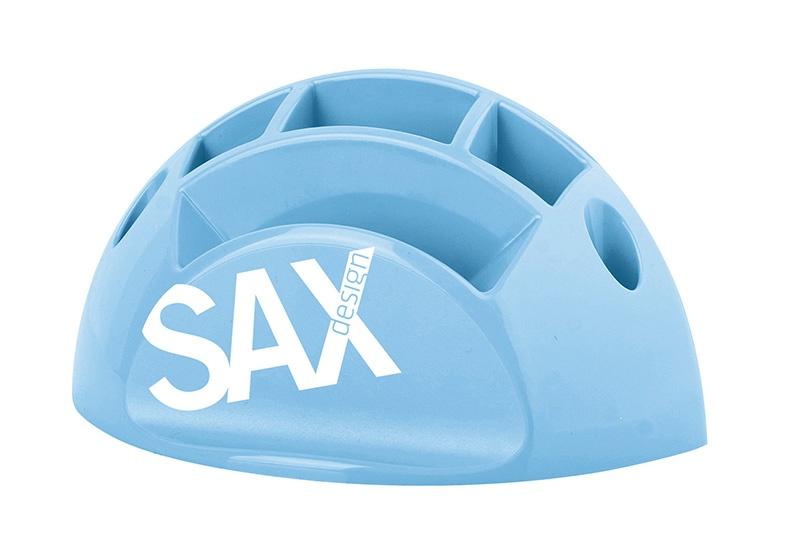 Przybornik na biurko SAX Design, z przegrodami, jasnoniebieski, Przyborniki na biurko, Drobne akcesoria biurowe