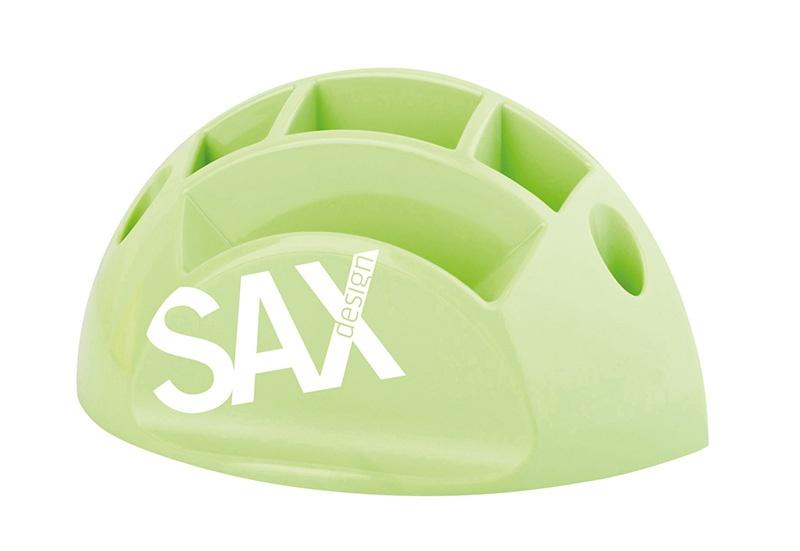 Przybornik na biurko SAX Design, z przegrodami, jasnozielony, Przyborniki na biurko, Drobne akcesoria biurowe