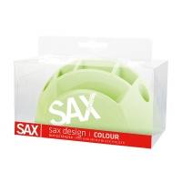 Przybornik na biurko SAX Design, z przegrodami, blister, jasnozielony, Przyborniki na biurko, Drobne akcesoria biurowe