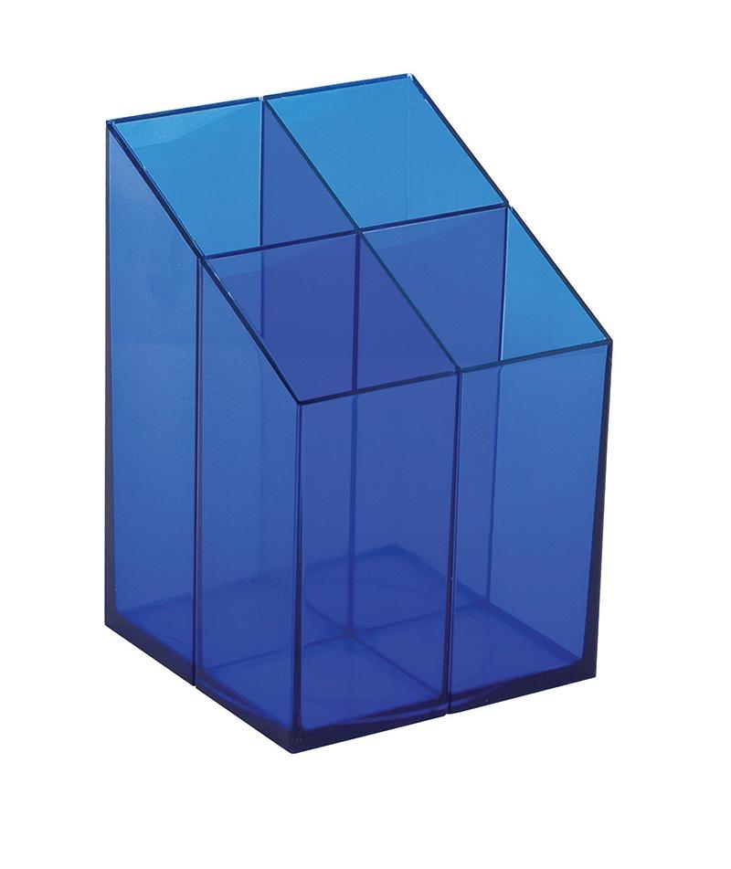 Przybornik na biurko ICO, z przegrodami, niebieski, Przyborniki na biurko, Drobne akcesoria biurowe