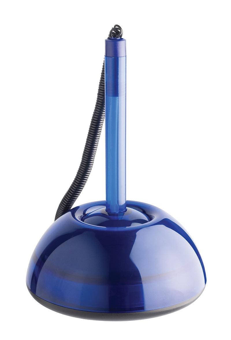 Ballpoint Pen, coil security, ICO Lux 1. 6mm (line), transparent blue