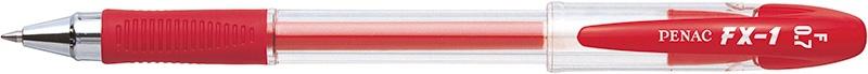 Długopis żelowy PENAC FX1 0,7mm, czerwony