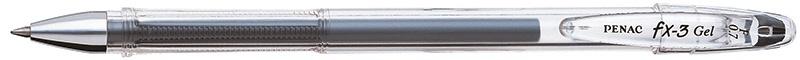Długopis żelowy PENAC FX3 0,7mm, czarny