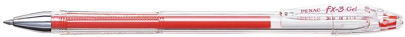 Długopis żelowy PENAC FX3 0,7mm, czerwony