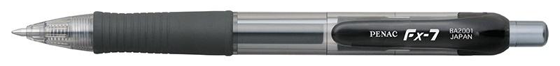 Długopis automatyczny żelowy PENAC FX7 0,7mm, czarny