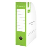 Pojemnik na dokumenty Q-CONNECT, karton, otwarte, A4/80mm, zielone, Pojemniki na dokumenty i czasopisma, Archiwizacja dokumentów