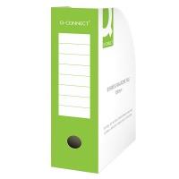 Pojemnik na dokumenty Q-CONNECT, karton, otwarte, A4/100mm, zielone, Pojemniki na dokumenty i czasopisma, Archiwizacja dokumentów