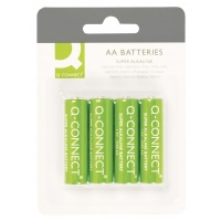 Super Alkaline Batteries Q-CONNECT AA, LR06, 1, 5V, 4pcs
