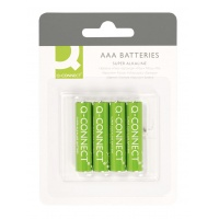 Super Alkaline Batteries Q-CONNECT AAA, LR03, 1, 5V, 4pcs