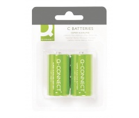 Super Alkaline Batteries Q-CONNECT C, LR14, 1, 5V, 2pcs