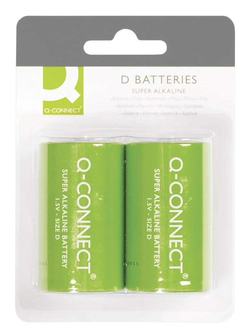 Baterie super-alkaliczne Q-CONNECT D, LR20, 1,5V, 2szt.