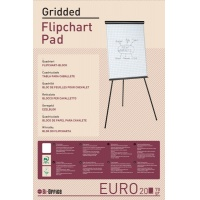 Flipchart Pad square ruled 65x98cm 20 sheets white