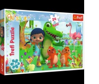 14263 24 Maxi - Świat pełen przyjaźni / M4E Wissper, Puzzle, Zabawki