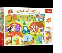 14271 36 Puzzle z okienkiem - Na farmie / Trefl, Puzzle, Zabawki